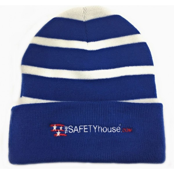 TheSafetyHouse.com Striped Beanie with Polyester Fleece Lining