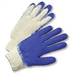 Global Glove Blue Palm Coated String Knit /Dozen