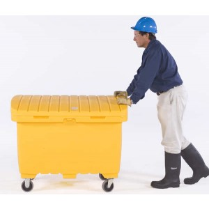 Ultra-Forest Yellow Utility Box w/ 5 In Solid Rubber Wheels - Item #SK0865