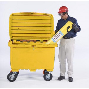 Ultra-Forest Yellow Utility Box w/ 8 In Pneumatic Wheels - Item #SK0868