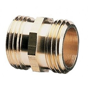Gilmour 3/4-Inch Brass Double Male Hose Connector