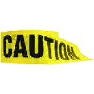 "Caution Tape Yellow 3""x1000' / roll"
