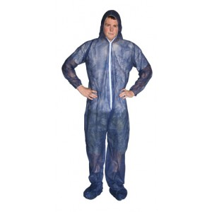 Blue Polypro Suit / Sold by Case - Item #CP0300
