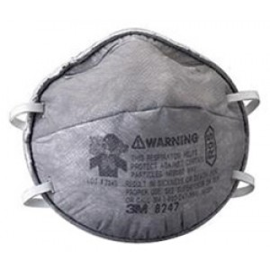 3M™ Particulate Respirator 8247, R95, with Nuisance Level OV Relief 20/BOX