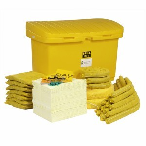 HazMat Spill Cart Kit With 8 Inch Wheels