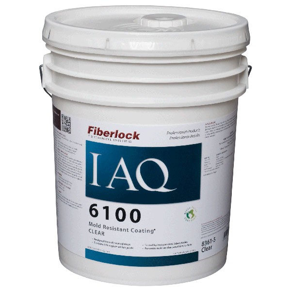 Fiberlock IAQ 6100 Mold Resistant Coating - Clear - 5 Gallon