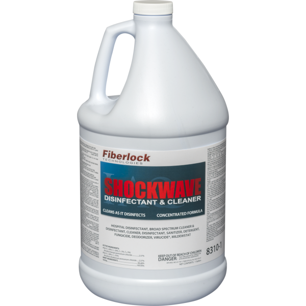 Fiberlock CHD1286 - Shockwave 8310 Concentrate Cleaner/Disinfectant - 1 Gallon