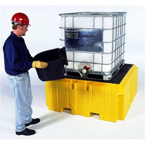 Ultra-Bucket Shelf IBC Spill Pallet Plus Pallet