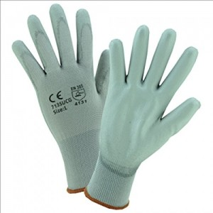 West Chester 713SUCG/2XL PU Palm Coated Gray Nylon Gloves, 2XL (Pack of 12)