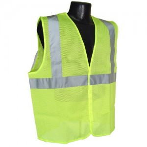 Radians SV2GM3X Class 2 Mesh Safety Vest, Green, 3 Extra Large