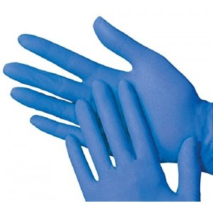 "Global Glove 805PF-L 11"" Disposable or Reusable 8 mil Powder Free Nitrile Glove"