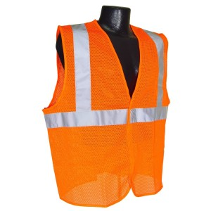 Radians SV2OML Class 2 Mesh Safety Vest, Orange, Large