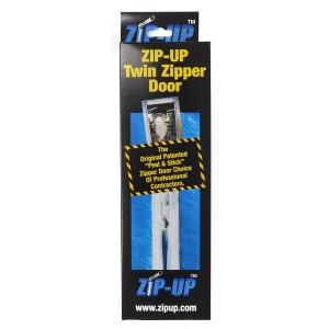 "Zip-Up Products Air-Tight Twin Zipper Door - 84"" x 3"" 2 Pack For Jobsite Dust Containment with Patented Airtight Zipper & Peel & Stick Backing - ZIP7.3TWB"