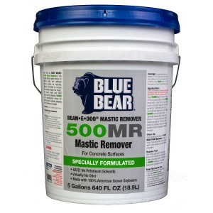 BLUE BEAR 500MR Mastic Remover For Concrete 5 Gallon
