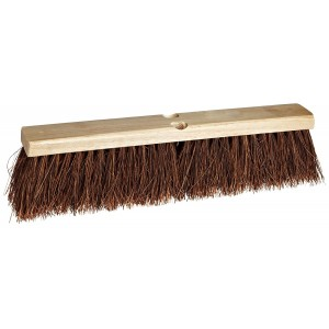 "Weiler 25242 Palmyra Fiber Garage Brush with Wood Head, 2-1/2"" Head Width, 24"" Overall Length, Natural"