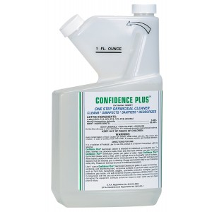 MSA 10009971 Confidence Plus Liquid Germicidal Cleaner, 32 oz. Volume