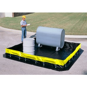 Ultra-Containment Berms, Collapsible Wall Model - 12 ft x 60 ft x 1 ft - Item #SC8404