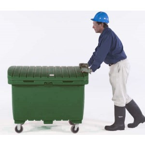 Ultra-Forest Green Utility Box w/ 5 In Solid Rubber Wheels - Item #SK0863