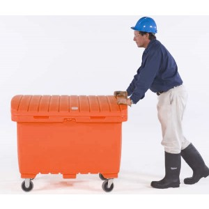 Ultra-Forest Orange Utility Box /5 In Solid Rubber Wheels - Item #SK0864
