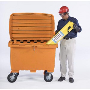 Ultra-Forest Orange Utility Box w/ 8 In Pneumatic Wheels - Item #SK0867