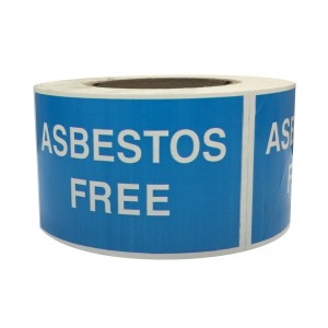 Asbestos Free Labels on Roll