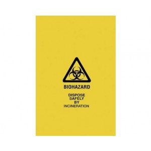 Yellow Biohazard Bags 43x49x02E 100/cs