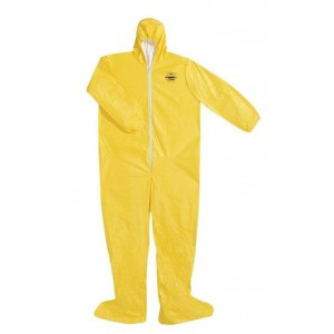 'Dupont Tychem QC' Size 3XL Protective Coverall Suit w/ Hood & Boots - 12/case