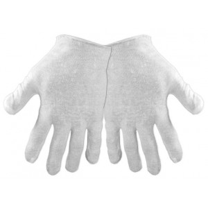 Global Glove L100 100 Percent Cotton Bleached Light Weight Lisle Inspectors Glove, Work, Mens, White (Case of 1200)