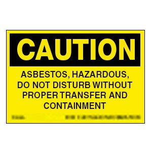 Asbestos Caution Labels/roll