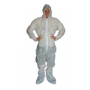 White Polypropylene Coverall /Sold by Case - Item #CP2850