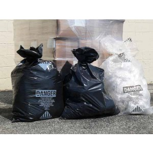 "Black Trash Bags 33"" x 50"" 5 Mil Black - No Print 75/roll"