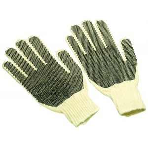 Global String Knit Gloves - Mens -Double Dots/dozen