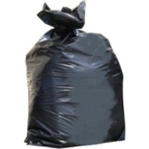Black Trash Bag: 30x40x06E Non Printed / 100 per roll