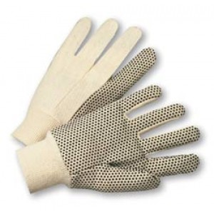 Cotton Canvas Single Dot Gloves